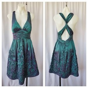 Adrianna Papell Boutique sz 8 green/ purple